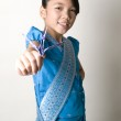 Asian Girl Holding Origami Crane — Stock Photo #7713248