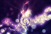 Glowing music background — Stock Photo
