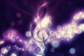Glowing music background — Stock Photo