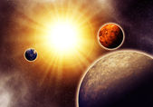 Abstract solar system — Stock Photo