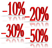3D percent numbers — Stock Photo