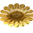 Abstract golden flower — Stock Photo