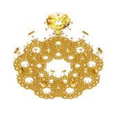 Golden flower — Stock Photo