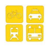 Transport and Travel icons — Stock Photo