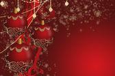 Rode kerstballen — Stockfoto