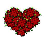 Hart shaped roses — Stock Photo