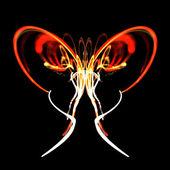 Neon kelebek — Stok fotoğraf