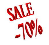 Sale and 70 percent number — Stock Photo