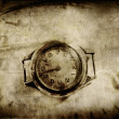 Old paper with clock texture - Stock Photo