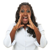Woman shouting — Stock Photo