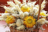 Dried flowers bouquet — Stock Photo
