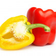 Stock Photo: Yellow and red pepper