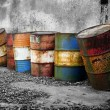 Abandoned rusty barrels — ストック写真