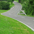 Asphalt winding curve road — Stock Photo