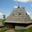 Traditional serbian house in  ethno-village — Stock Photo