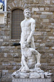 Hercules and Caco in Florence — Stock Photo