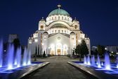 Cathedral of Saint Sava by night — Stock Photo