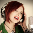 Female singer — Stock Photo #7369855