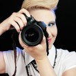 Woman with camera — Stock Photo #7371147