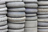 Used automobile tires — Stock Photo