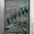 Stock Photo: Door of St. Nicolas Church in Ljubljana