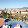 Coffee break in Florence — Stock Photo