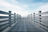 Pier with fence — Stock Photo