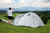 Camping in beautiful nature — Stok fotoğraf
