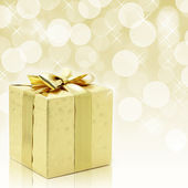 Regalo de navidad oro — Foto de Stock
