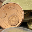 Stock Photo: 5 Euro Cent