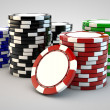 Stacks of poker chips — Stock Photo #7105408
