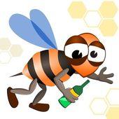 Drunken Bee — Stock Vector