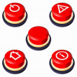 Red buttons with icons — Foto Stock