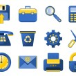 Vector Icons - blue and yellow — Stock Vector #7179636