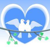 Doves of Love — Stockvector