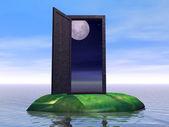 дверь на ночь — Стоковое фото