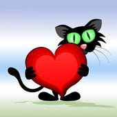 Black Cat. — Vetor de Stock