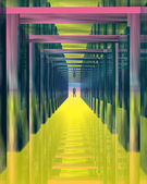 Color tunnel. — Stock Photo