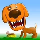 Angry dog. — Stock Vector