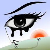 Eye in the sky. — Stock Vector