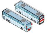Isometric bus — Stock Vector