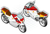 Izometryczne motocykl — Wektor stockowy