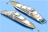 Isometric cruise ship — Stock Vector