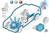 Isometric hydrogen engine — Stock Vector