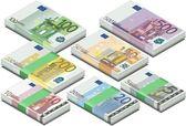 Izometrik euro — Stok Vektör