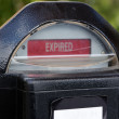 Expired Parking Meter — Stock Photo