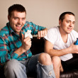 Two Guys Playing VG Fun — Stockfoto