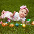 Stock Photo: Easter Baby Smirk Lay