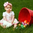 Easter Baby Spill Pout - Stock Photo