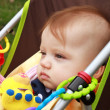 Stock Photo: Baby In Stroller Stair